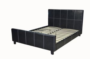 Modern Home Furniture PU Leather Bedroom Flat Bed