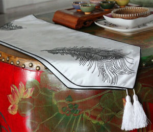 Hand-Made Diamond Ironing Table Runner Decorative Table Flag (JTR-22) pictures & photos