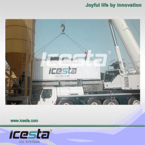Icesta Best Selling Product Concrete Cooling Flake Ice Plant pictures & photos