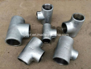 Plain Galvanized Tee Malleable Iron Pipe Fittings pictures & photos