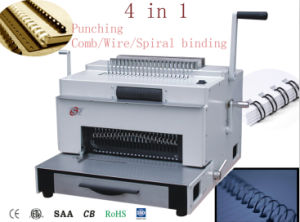 Paper Book Punching Comb Wire Spiral Coil Binding Machine (SUPER4&1) pictures & photos