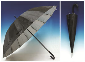 Auto Open Silver Coating Straight Umbrella (SK-002) pictures & photos