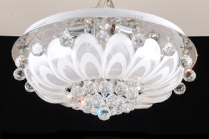 LED Light Source Cone Crystal Light Chandelier
