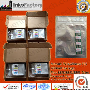 2liter Mimaki Ts34/Ts5 Sublimation Inks Bags pictures & photos