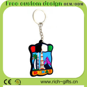 Plastic Key Chains Souvenir Products for Tourists Promotion Gifts (RC-KC09)