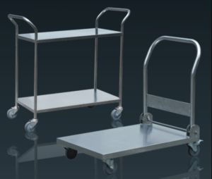 Stainless Steel Platform Trolley and Shelving