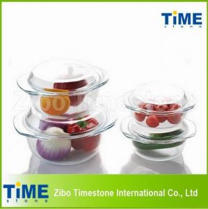 Round High White Material Glass Bowl with Lid (TM010617) pictures & photos