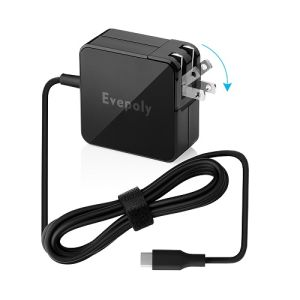 Evepoly Pd USB-C Power Adapter for Switch/Asus Chromebook Flip  C302ca/Lenovo Yoga 910-13ikb/Google Pixel C/HP Chromebook 13 G1 etc