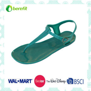 Women′s PVC Sandals, Injection Shoes with Colorful Design pictures & photos