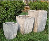 Tapered Flower Planter with Lead Surface for Garden and Home