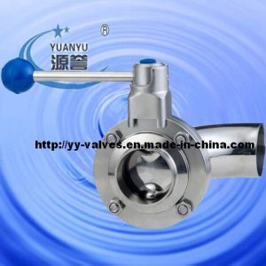 Sanitary Butterfly Valve with Elbow pictures & photos