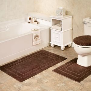 Polyester Microfiber Room Acrylic Bathroom Shower Toilet Bath Mats Rugs Sets