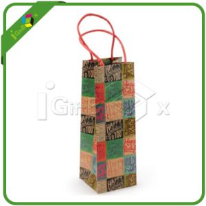 Machine Made Wine Bottle Kraft Paper Bag Wholesale pictures & photos