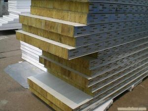 Hop Selling Rockwool Sandwich Panel for Country House/Cottage pictures & photos