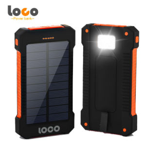 Hot Sale Waterproof 12000mAh Solar Power Bank with LED Light