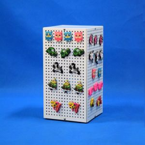 Stock Design Steel Perforated Plate Rack Display for Keychains (PHD8007)