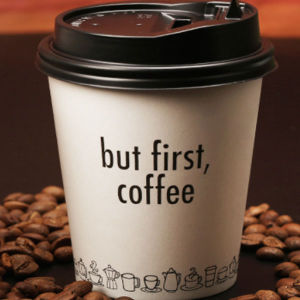 Disposable Coffee Cups Drink 8oz Paper With Lids