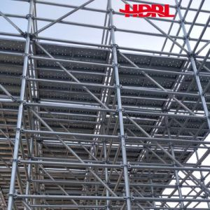 Scaffolding Ring-Lock System with High Efficiency in Construction