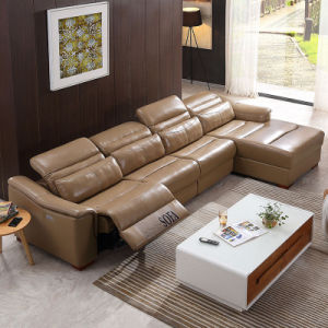 Living Room Sectional L Shape Recliner Sofa Set