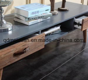 The Sitting Room Tea Table Solid Wood TV Ark of Tea Table High Quality Mute Slide Ground Ark of Tea Table (M-X3644) pictures & photos