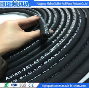 Smooth / Cloth Surface Embossed Hydraulic Hose En853 2sn pictures & photos