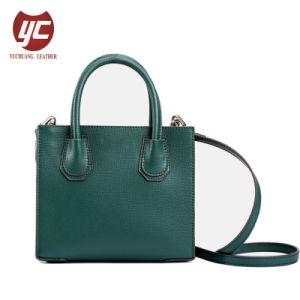 1247e18e7 Yc-H069 Factory Custom Classic Style Shopping Bag Green Color Tote Bags  Women Handbag