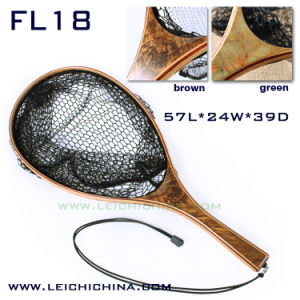 Burl Wood Frame Landing Net with Nylon Net pictures & photos