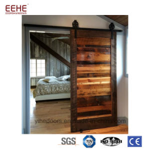 China Latest Design Wooden Interior Doors Pocket Bathroom Sliding
