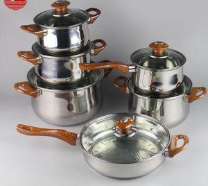 11PCS Stainless Steel Non-Stick Cookware Set (JL-0108)