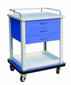 Epoxy Powder Coated Hospital Medication Cart (N-12) pictures & photos