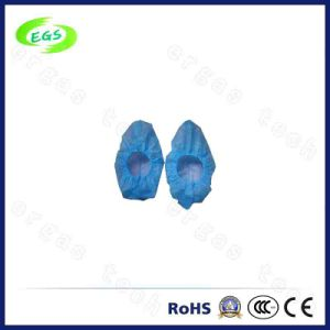 Disposable Capsule 28mm Plastic Slip Resistant ESD Shoe Covers pictures & photos