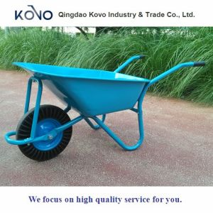 Construction Wheelbarrow with Solid Tyre for Qatar