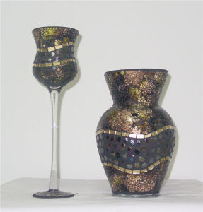 Mosaic Glass Pillar Candle Holder pictures & photos