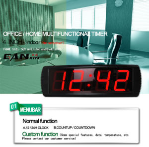 [Ganxin] Remoteled Control LED Digital Wall Clock
