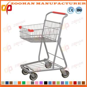 Metallic Wire Compact Grocery Supermarket Handling Shopping Trolley Cart (Zht207) pictures & photos