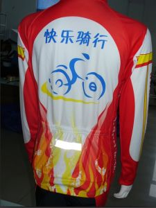 100% Polyester Customized Long Sleeve Cycling Jersey (TC055)