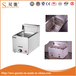 Sc-73 (12L) 1-Tank 2-Basket Gas Fryer Machine for Sale pictures & photos