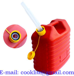 Plastic Fuel Petrol Diesel Jerry Can Canister with Flexible Spout 10L pictures & photos