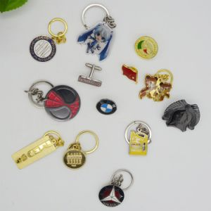 New Design Silver Gold Metal 3D Keychain pictures & photos