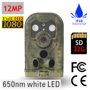 12MP 1080P White Flash Digital Trail Camera for Hunting Game Cam Wild Surveillance