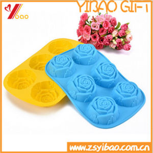 High Quality Flower Shape Silicone Ice Cube Tray Mold (YB-AB-020) pictures & photos