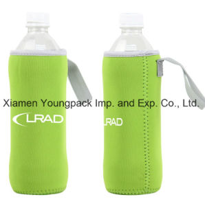 Promotional Custom Printed Sports 550ml Portable Neoprene Water Bottle Cooler with Strap pictures & photos