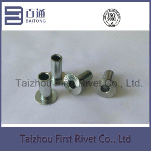 8X18mm White Zinc Plated Flat Head Fully Tubular Steel Rivet