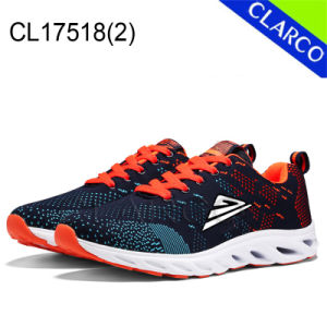 Flyknit Mesh Upper Adults Sports Sneaker Running Shoes With Cushion Sole