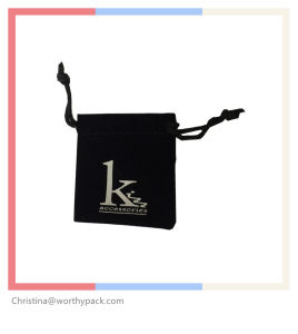 Custom Printed Drawstring Jewelry / Watch Gift Pouches