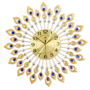 Luxury Peacock Wall Clock Beautiful Metal Unique Wall Mounted Clock pictures & photos