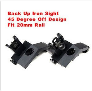 Front Rear Sight Rapid Transition 45 Degree off Buis Flip up Back up Iron Sight