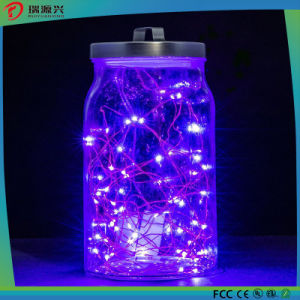 Christmas Bright Warm Purple Copper Wire LED Decoration Light