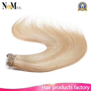 Full Head Clip in Hair Extensions 140g 180g 220g 260g Lightest Blonde White Clip in Hair Extension pictures & photos