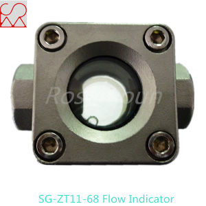 Double Windows Tempered Glass Flow Indicator Sight Glass for Fluid